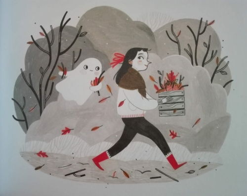 how to make friends with a ghost,rebecca green,album,littérature jeunesse,challenge halloween 2018,fantômes