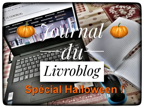 logo, journal de blog, halloween