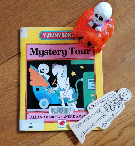 funnybonnes,mystery tour,allan ahlberg,andre amstuts,album,squelettes,le challenge halloween 2020