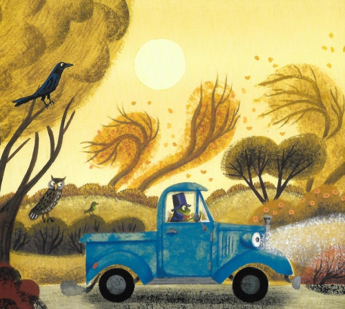 little blue truck's halloween,alice schertle,jill mcelmury,album,littérature jeunesse