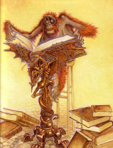 Ook, Terry Pratchett, Paul Kidby, librarian